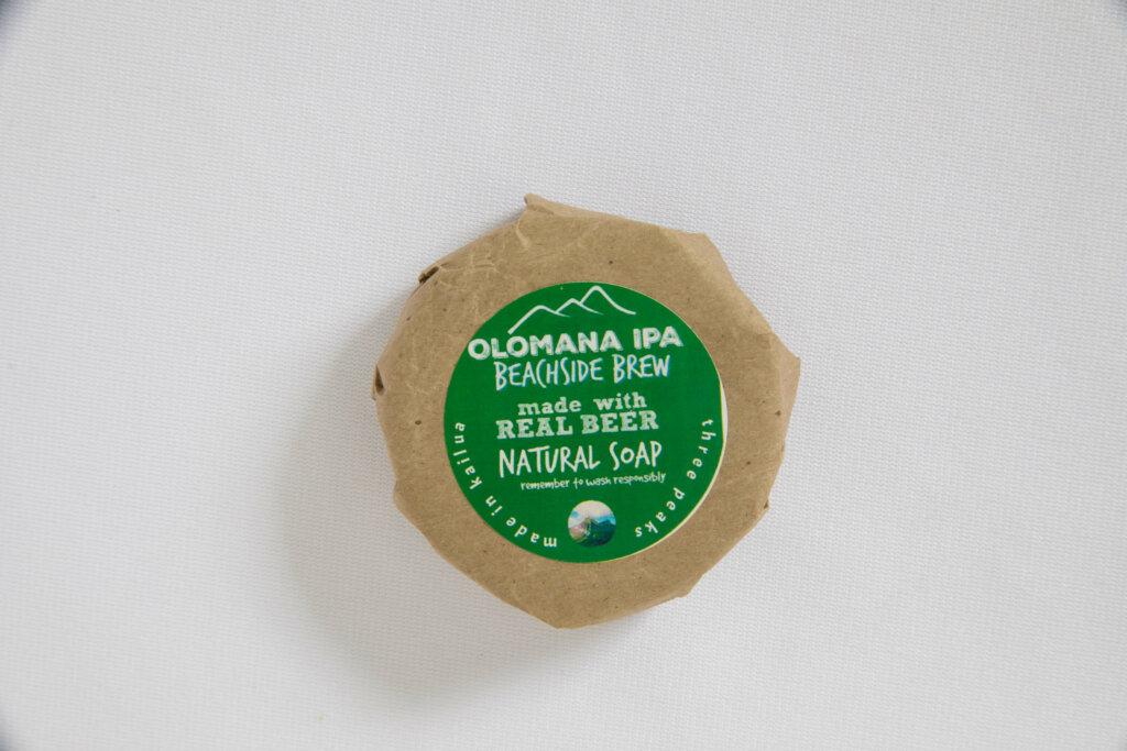ビールからできている店特製ソープ