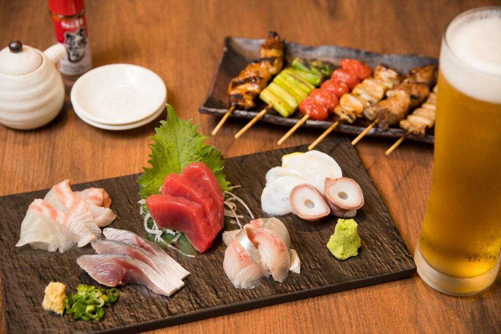 季節の鮮魚お造り5種盛り合わせ