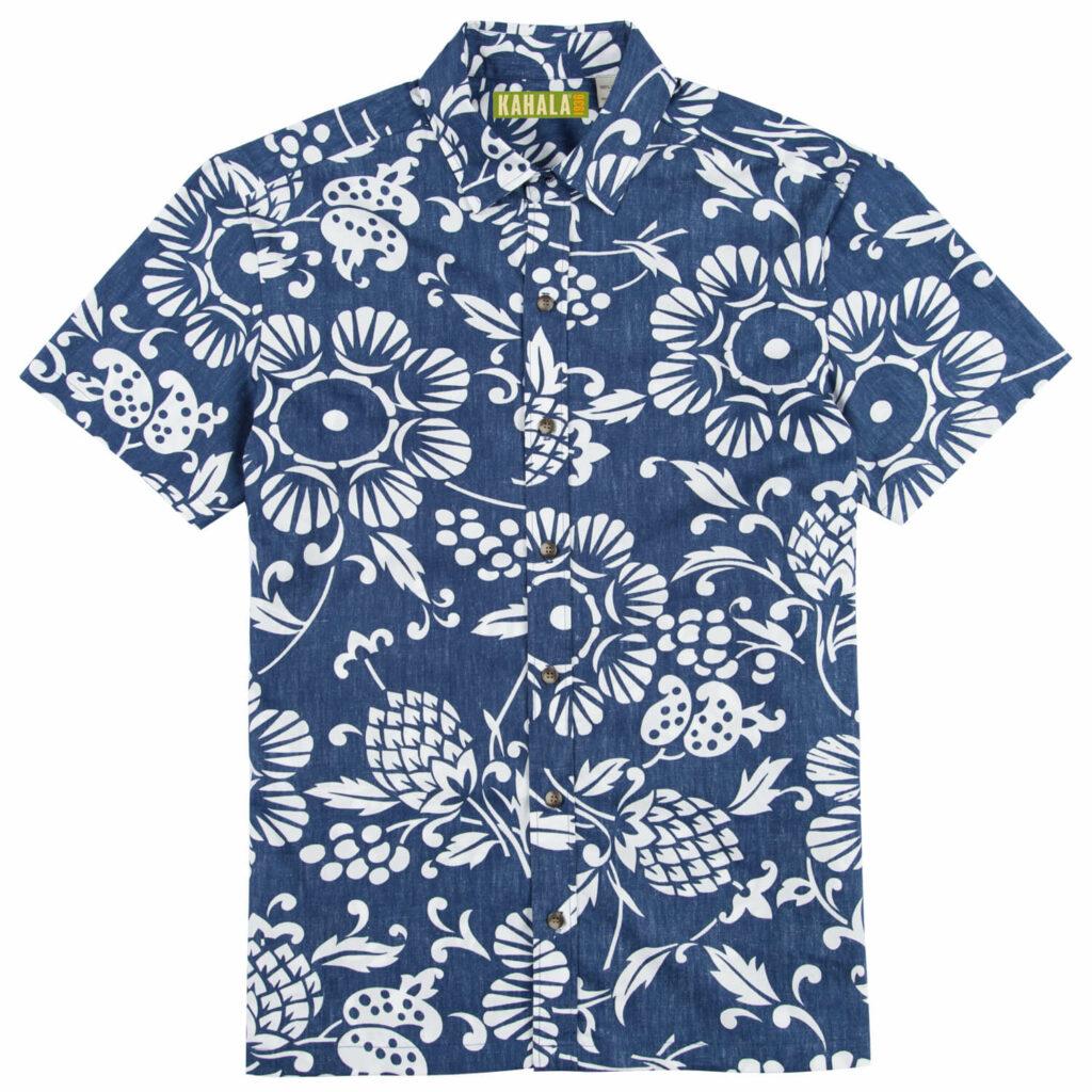 パレオの柄から着想を得たアロハシャツ