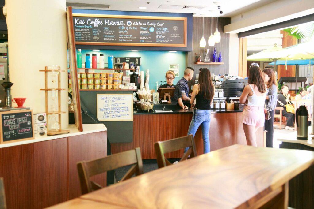 カイ・コーヒー・ハワイの店内