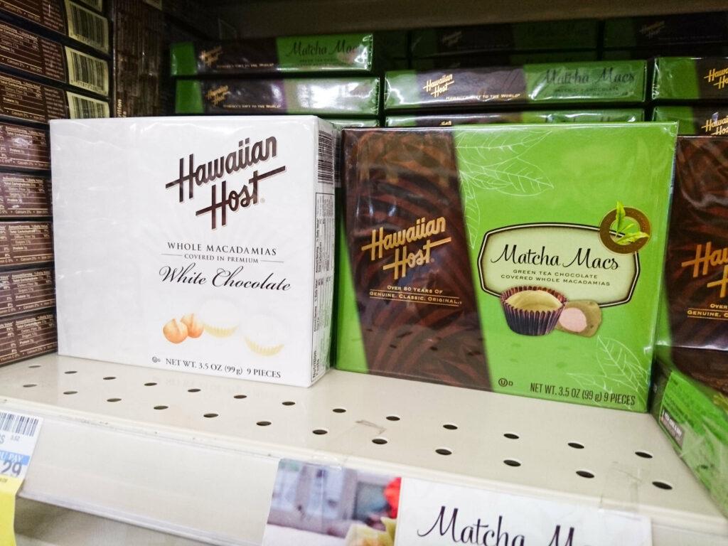 抹茶やホワイトチョコの商品