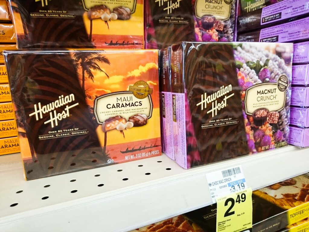 マカダミアナッツをクランチしたり、キャラメルとミックスしたチョコレート