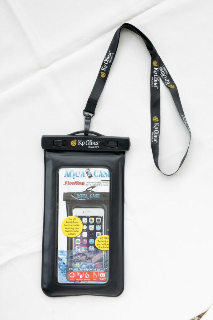ストラップ付き防水携帯ケース