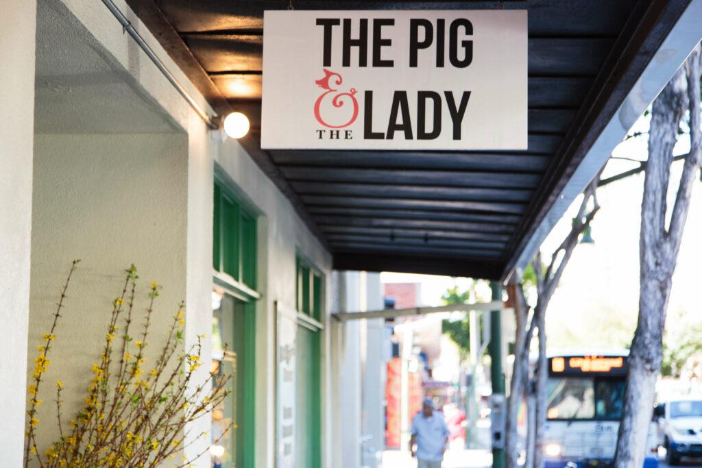 ピッグ&レディの看板